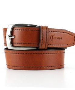 Cinturón cuero costura unisex