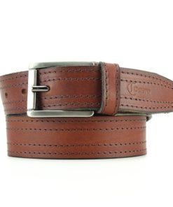 Cinturón cuero doble costura