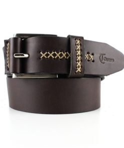 Cinturón cuero costura