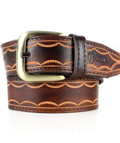 Cinturón cuero grabado unisex