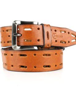 Cinturón cuero calado unisex