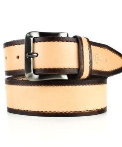 Cinturón cuero bicolor unisex